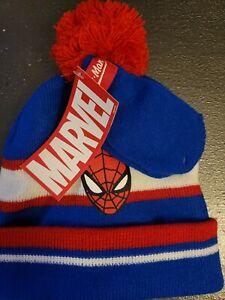 Spiderman Hat And Mitten Set