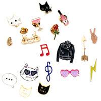 New Women Cute Cartoon Brooch Enamel Shirt Label Pin Collar Pins Badge Jewelry