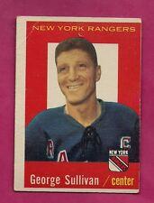 1959-60 TOPPS # 59 RANGERS GEORGE SULLIVAN  CARD (INV# 9659)