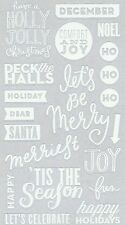 ASSORTED STICKERS  - 30 WHITE PVC QUOTES - HOLLY JOLLY CHRISTMAS