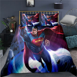 Superman Duvet Cover Set Quilt Covers Single Double King Super King Size Bed