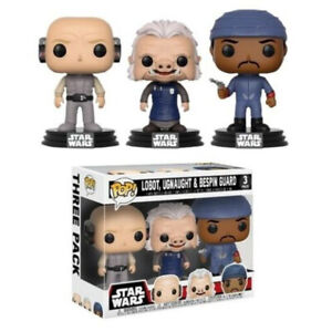 Funko Pop Pack 3 Figuras Star Wars Cloud City - Lobot, Ugnaught y Guardia Bespin