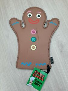 Boxer Gifts Gingerbread Man Neoprene Oven Mitt/Glove. Brand New with tags