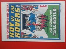 POSTCARD ROY OF THE ROVERS COMIC COVER 23 APRIL 1977