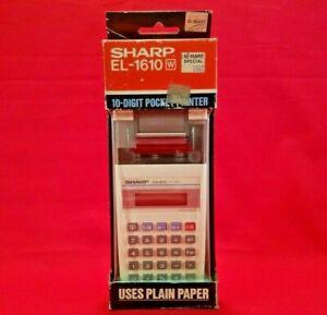 Sharp ELSI MATE EL-1610 White 10-Digit Handheld Printing Electronic Calculator
