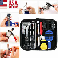 147pcs Watch Repair Kit Watchmaker Back Case Opener Link Remover Spring Pin Bar