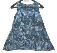 Maggie B Women's Small Tina Tank Denim Blue Sleeve Casual Blouse Top Cotton