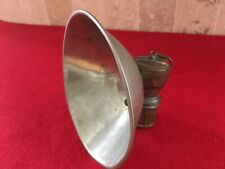 miner lantern lamp carbide Justrite  brass  pat large reflector vg antique