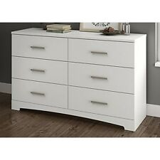 South Shore 10450 Gramercy 6-Drawer Double Dresser Pure White NEW