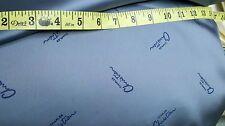 "Vintage Charles Christian 7 Yards x 45"" Gun Blue Satin Lining Fabric LAST YARDS!"