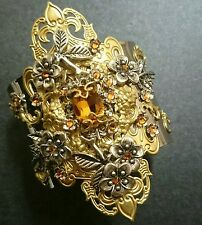 Art Deco Victorian vintage made with Swarovski crystals Renaissance cuff