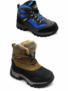 Boys Girls Kids Hi-Tec Waterproof Dri-Tec Insulated Hiking Walking Snow Boots