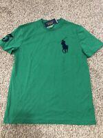 Men's Sz S Polo Ralph Lauren Crewneck Short Sleeve T-shirt Green navy Big pony