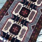 Handmade Afghan Kazakh Accent Rug 4x6 Camel Hair Natural Dyes Tribal & Nomadic