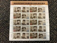 Distinguished Soldiers Sealed Pkg. 20 X .33c Stamps