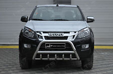 Isuzu d-max chrome essieu nudge a-bar en acier inoxydable, bull bar àpd 2012