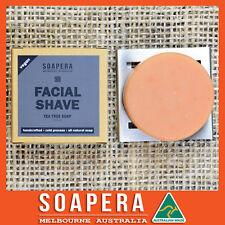 1xTeatree facial shaving soap -all natural handmade vegan soap-Aussie made