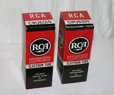 2 RCA 6014 / CIK Electronic Vacuum Tubes in Box. NOS USA
