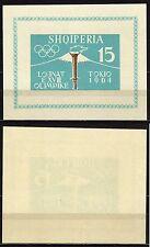 #866 - Albania - Foglietto Olimpiadi di Tokyo, 1962 - Nuovo (** MNH)