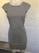 Ladies Piper Lane Black & White Striped  Spandex Dress Size 8