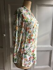 ZARA LONG SLEEVE FLORAL BLOUSE SHIRT SIZE MEDIUM 12