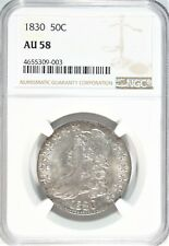 1830 Capped Bust Half Dollar NGC AU-58  #TG8-03