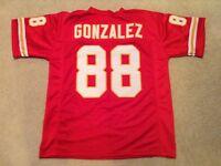UNSIGNED CUSTOM Sewn Stitched Tony Gonzalez Red Jersey - M, L, XL, 2XL