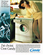 PUBLICITE ADVERTISING 025  1992  CANDY  le  lave linge machine à laver
