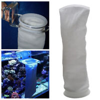200 Micron 7 inch Fish Aquarium Marine Sump Felt Pre Filter Sock Bag White Hot