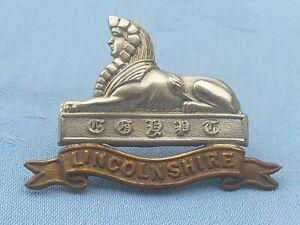 Victorian Boar War Period.The Lincolnshire Regiment cap badge.