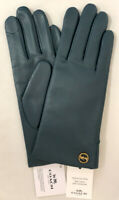 Genuine COACH Tech Gloves for Women Leather w/Wool Lining * Teal * MSRP $148