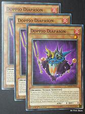 Set 3X DOPPIO DIAPASON Double Resonator MACR-IT016 Comune in Italiano YUGIOH