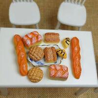 6Pc 1/12 Miniatur Brot Toast für Puppenhaus Küche Essen Bäckerei Gebäck G2J8