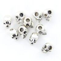 10pcs Retro Schädel Spacer Perlen Metallperlen Schmuckzubehör Perlen DIY Für