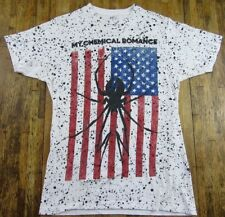 My Chemical Romance Emo Rock Black Widow American Flag Splatter T Shirt Size S