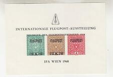 AUSTRIA, 1968 IFA Wien, Air, Souvenir Sheet, no gum as issued.