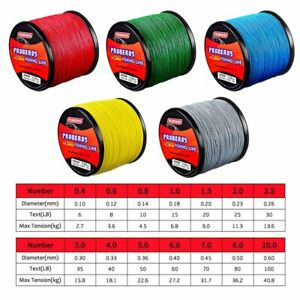 300M/330Yard Spectra Braided Fishing Line 4 Strand Multifilament Optional Color