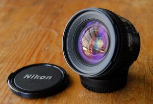 Nikon AF Nikkor 20mm F2.8 D Wide Angle Lens - supports 3D matrix metering
