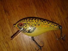 Vintage Square Lip Lure - Unknown Cordell, Rebel Natural Yellow color Bait