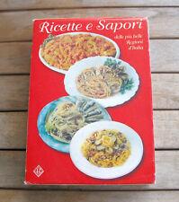 RICETTE E SAPORI delle più belle regioni d'Italia (1998) COFANETTO 5 VOLUMI