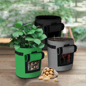 18/26/43L Fabric Grow Bags Potato Tomato Plant Bag Garden Vegetable Planter Pot