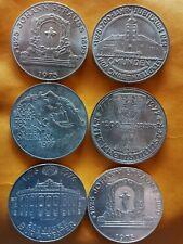 100 Schilling Silbermünzen, 2x1975,1976,2x1977und1978