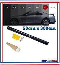 Film solaire de qualite, 3m x 50cm, teinté 50% VLT (couleur Noir) auto,batiment