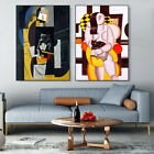 """2 PCS Framed Canvas Art Combo Painting by Pablo Picasso Wall Art 24""""x32""""Each"""