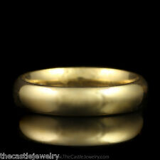 Size 5 in 14K Yellow Gold Polished Comfort Fit Wedding Band 4.25mm