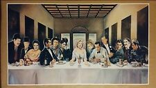 """Hollywood Last Supper GIANT WIDESCREEN 42"""" x 24"""" Movie Poster Marilyn Elvis"""