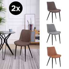 Faux Leather Dining Chairs Modern Style Sturdy High Quality Kitchen SET OF 2