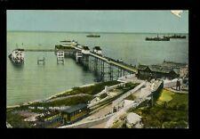 Wales Glamorgan SANSEA MUMBLES The Pier & railway c1900s? PPC