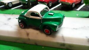 Classic  t-jet body / 1941 willys / green with white hard top  NICE