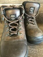 Timberland Brown Leather Hiking Walking Trail Boots 33693 Women's 8M Lace Up